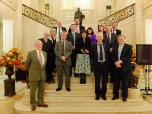 Photo of All Party Group on Autism (APGA) hosts and guests from Celtic Nations Autism Partnership (CNAP) (1.5.13) on the eve of the CNAP Belfast Autism Policy Summit:-